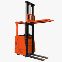 3d max rider stacker red rigged