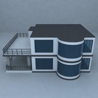 villa street architecture 3d model