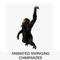 maya rigged chimpanzee swinging animation