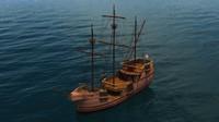 3dsmax sailing vessel