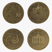 3d 50 euro cents model