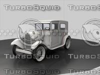 vintage car 3d c4d