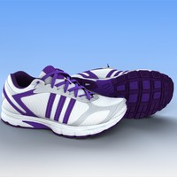 3d female sport shoes model