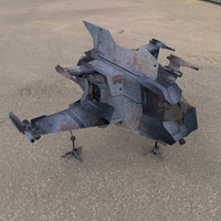 machs hawk shuttle 3d obj