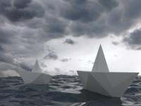 paper boat 3d max