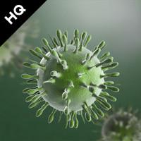 3d h1n1 virus model