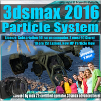 3ds max 2016 Particle System e Particle Flow 3 Mesi Subscription
