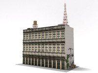 3d old office building model