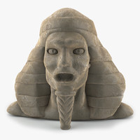 3d pharaoh head statue model