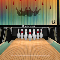 pinsetters restaurant bowling alley 3d model