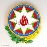 coat arms azerbaijan 3d max