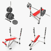 gym equipment 3d ma