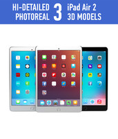 3d model apple ipad air 2