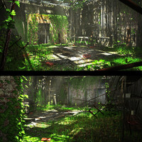 3d abandoned warehouse model
