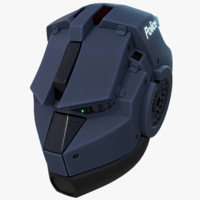 blender helmet 3d model