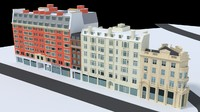 3d model of london city block