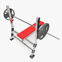 3d model of bench press