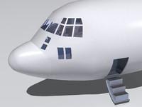 3d kc-130 cockpit model