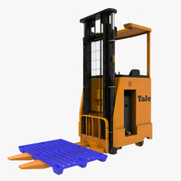 rider stacker orange pallet max