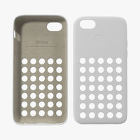iphone 5c case white 3d model