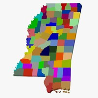 3d model counties mississippi