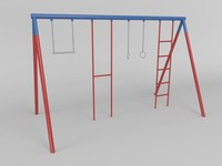 3d model of gymnastic station