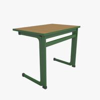 school table 3d obj