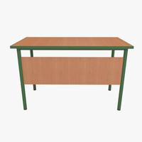 school table 3d 3ds