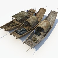chinese boat 3d max