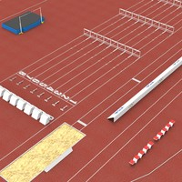 athletics track 3d x