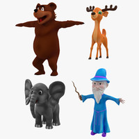 3d cartoon characters model