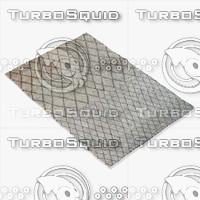 3d model amara rug moroccan 9055