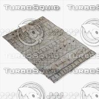 amara rug moroccan 9057 3d model