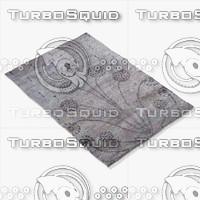 amara rug moroccan 9062 3d 3ds