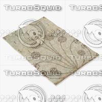 amara rug moroccan 9062a 3d 3ds