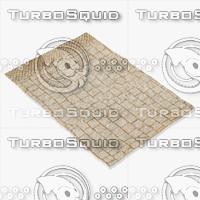 3d model amara rug moroccan 9064a
