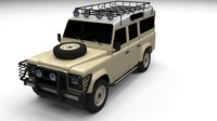 3d fbx land rover defender 110