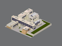 3d model building school