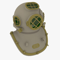 diving helmet 3d max