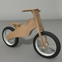 balance bike 3d model