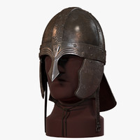 medieval spangen helmet v-ray 3d max