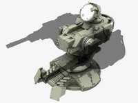 guns turret 3d max