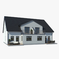family house 3d max