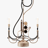 steampunk pendant light 3d max
