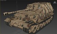 3d model ferdinand tank