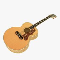 gibson j-200 guitar 3d model