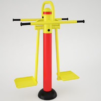 3d model outdoor fitness quipment