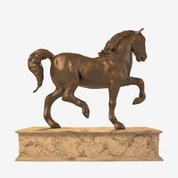 davinci s horse 3d ma