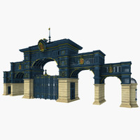 gate iron art 3d model