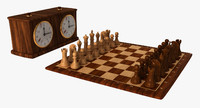 Chess Set & Clock